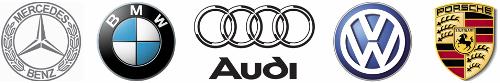 Логотипы немецких автопроизводителей